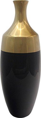 deko vase 39 grace 39 48 cm schwarz gold online kaufen bei. Black Bedroom Furniture Sets. Home Design Ideas