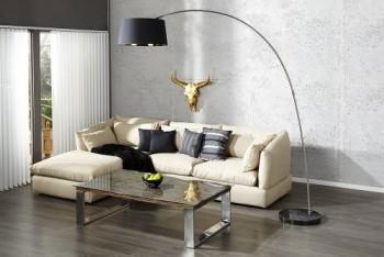 Design-Stehleuchte-FORMA-schwarz-gold-Bogenlampe-0