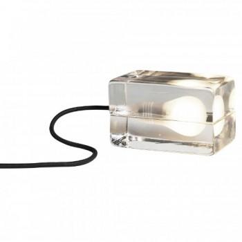 DesignHouseStockholm-Block-Lamp-Tischleuchte-transparent-Textilkabel-schwarz-0