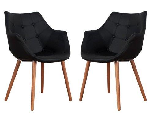 eleven sessel kunstleder schwarz 2er set zuiver online kaufen bei woonio. Black Bedroom Furniture Sets. Home Design Ideas