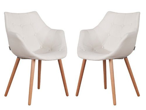 eleven sessel kunstleder wei 2er set zuiver online kaufen bei woonio. Black Bedroom Furniture Sets. Home Design Ideas