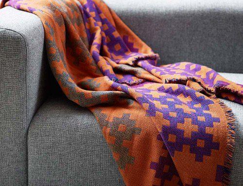 HAY-Decke-Plus-9-orange-Wolle-100-0