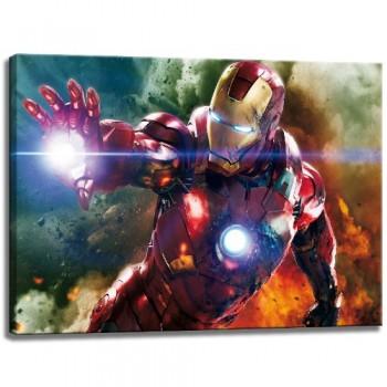 Ironman-Motiv-auf-Leinwand-im-Format-120x80-cm-Hochwertiger-Kunstdruck-als-Wandbild-Billiger-als-ein-lbild-ACHTUNG-KEIN-Poster-oder-Plakat-0