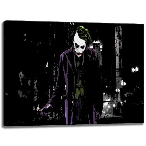 joker motiv auf leinwand im format 120x80 cm hochwertiger kunstdruck als wandbild billiger. Black Bedroom Furniture Sets. Home Design Ideas