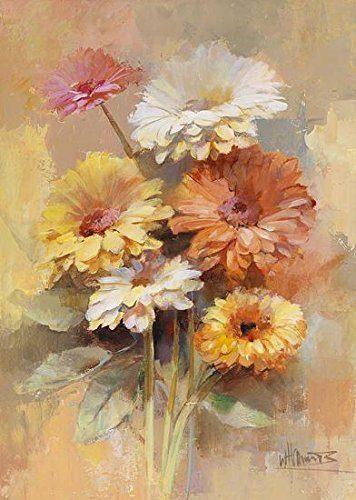 Keilrahmen-Bild-Willem-Haenraets-Floral-Bouquet-I-50-x-70-cm-0