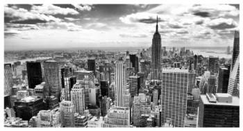 Klebefieber-DL-294-Leinwandbild-New-York-City-Schwarz-Wei-B-x-H-160cm-x-80cm-erhltlich-in-vielen-Gren-0