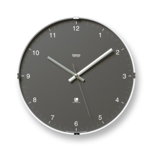 lemnos north clock grey large office clock with clear face and hands online kaufen bei woonio. Black Bedroom Furniture Sets. Home Design Ideas