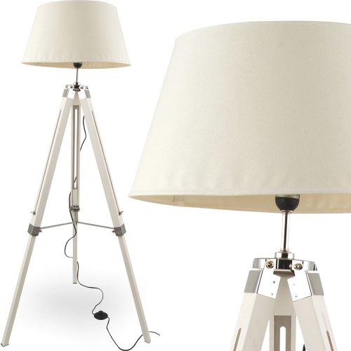 mojo stehleuchte tripod hhenverstellbar design lampe weiss. Black Bedroom Furniture Sets. Home Design Ideas