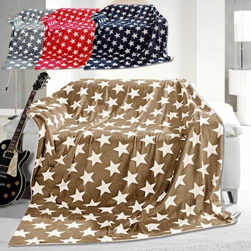 microfaser decke sterne 150cm x 200cm kuscheldecke beige sterne online kaufen bei woonio. Black Bedroom Furniture Sets. Home Design Ideas