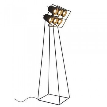 Multilamp-Stehlampe-mit-6-Lampenschirme-Schwarz-0