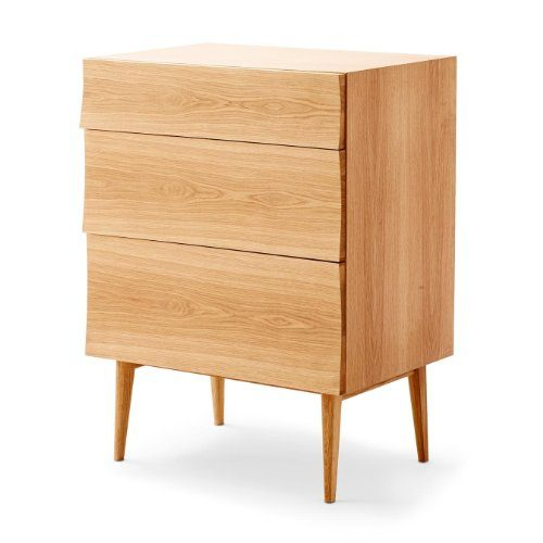 muuto reflect kommode eiche holz 74x42x100cm 3 schubladen online kaufen bei woonio. Black Bedroom Furniture Sets. Home Design Ideas