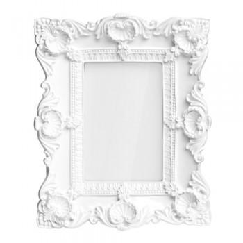 Premier-Housewares-2300758-Barock-Bilderrahmen-4-x-6-Zoll-wei-Gloss-0