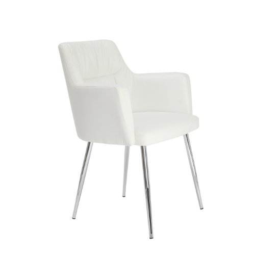 premier housewares 2403162 stuhl kunstleder verchromte beine 59 5 x 60 x 79 cm wei online. Black Bedroom Furniture Sets. Home Design Ideas