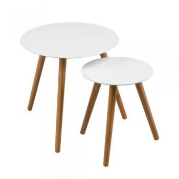 Premier-Housewares-2403413-Nostra-Tisch-Set-ineinanderschiebbar-Beine-aus-Holz-lackiert-Wei-2-teiliges-Set-0
