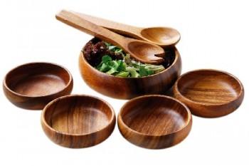 Premier-Housewares-7-teiliges-Salat-Set-Regenbaum-Holz-0