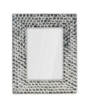Premier-Housewares-Bilderrahmen-13-x-18-cm-Keramik-Hammerschlag-Effekt-silbern-0