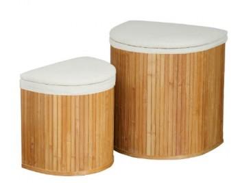 Premier-Housewares-Halbrunde-Wschekrbe-Bambus-mit-Leinenauskleidung-2-Stck-0