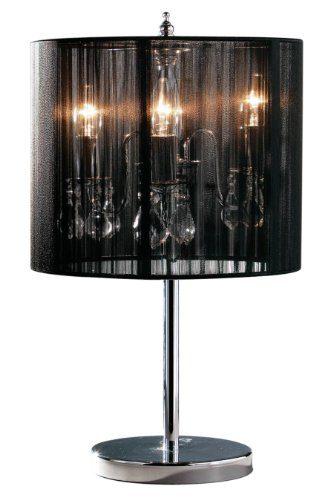 premier housewares kronleuchter tischlampe mit schwarzem lampenschirm online kaufen bei woonio. Black Bedroom Furniture Sets. Home Design Ideas