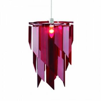 Premier-Housewares-Lampenschirm-mit-lasergeschnittenen-Acrylplatten-41x28x28-cm-rot-0