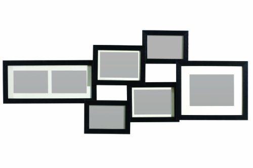 premier housewares mehrfach bilderrahmen f r 7 fotos 98 x 41 cm schwarz online kaufen bei woonio. Black Bedroom Furniture Sets. Home Design Ideas