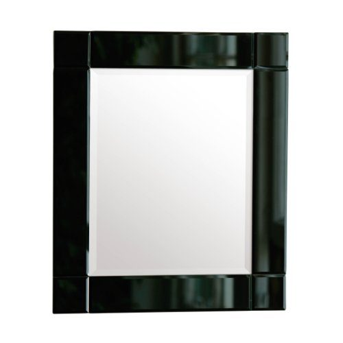 premier housewares rectangle wall mirror with black. Black Bedroom Furniture Sets. Home Design Ideas