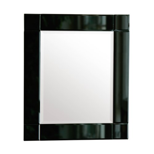 Premier housewares rectangle wall mirror with black for Spiegel schwarzer rahmen
