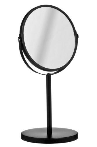 premier housewares runder kosmetikspiegel drehbar mit st nder 35 x 18 x 18 cm mattschwarz. Black Bedroom Furniture Sets. Home Design Ideas