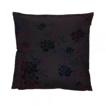 Premier-Housewares-Samtkissen-2-farbig-Seidenimitat-45x45-cm-dunkelviolett-0