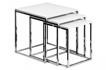 Premier-Housewares-Tische-verschachtelbar-mit-Chromgestell-42-x-40-x-40-cm-3-teiliges-Set-hochglnzendwei-0