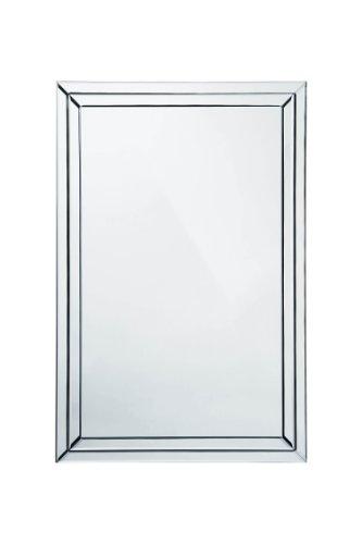 Premier housewares wall mirror bevelled clear edge 60 x for Mirror 90 x 90