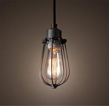 Purelume-Retro-Vintage-Kfig-Lampe-Pendelleuchte-Schwarz-inkl-40W-Edison-Glhbirne-0