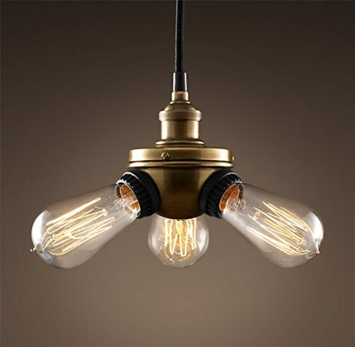 Purelume-Retro-Vintage-Tripple-Lampe-Pendelleuchte-inkl-40W-Edison-Leuchtmittel-0