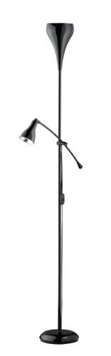 Reality-Leuchten-Stehlampe-Stehleuchte-1xE27-max60W-Lesearm-1xE14-max-40W-ohne-Leuchtmittel-Hhe-180-cm-schwarz-R46102002-0
