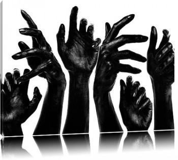 Schwarze-Hnde-Bild-auf-Leinwand-XXL-riesige-Bilder-fertig-gerahmt-mit-Keilrahmen-Kunstdruck-auf-Wandbild-mit-Rahmen-gnstiger-als-Gemlde-oder-lbild-kein-Poster-oder-Plakat-Format120x80-cm-0