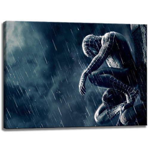 spiderman motiv auf leinwand im format 120x80 cm hochwertiger kunstdruck als wandbild. Black Bedroom Furniture Sets. Home Design Ideas