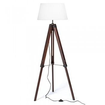 Stativ-Stehleuchte-Widow-mit-Textilschirm-Telekop-Dreibein-aus-Holz-1x-E27-max-60W-H-145-cm--45-cm-Metall-Holz-0