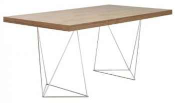 TemaHome-Multi-Schreibtisch-mit-Trestles-Gestell-180-cm-in-Nussbaum-Echtholzfurnier-mit-chrome-Fsse-0