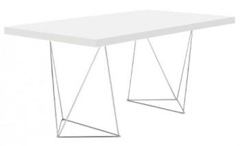 TemaHome-Multi-Schreibtisch-mit-Trestles-Gestell-180-cm-in-glattweiss-Matt-lackiert-mit-chrome-Fsse-0