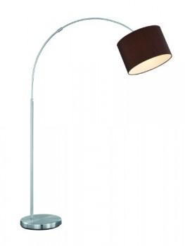 Trio-Leuchten-Bogenleuchte-in-Nickel-matt-exlusiv-1x-E27-maximal-60W-Hhe-150-215-cm--Schirm-30-cm-Stoffschirm-braun-461100114-0