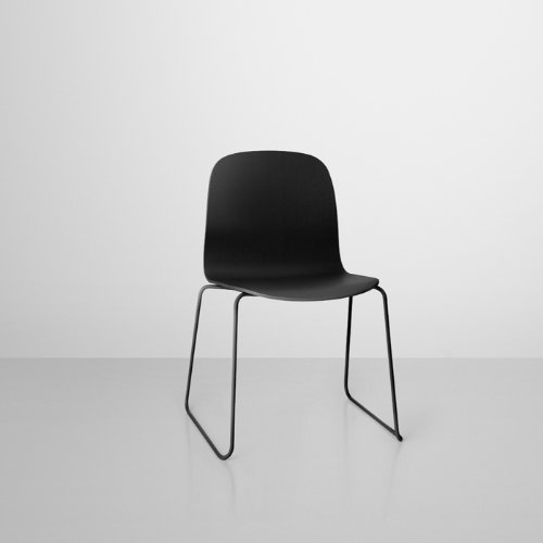 muuto visu chair by mika tolvanen black kufenstuhl schwarz 11452 online kaufen bei woonio. Black Bedroom Furniture Sets. Home Design Ideas