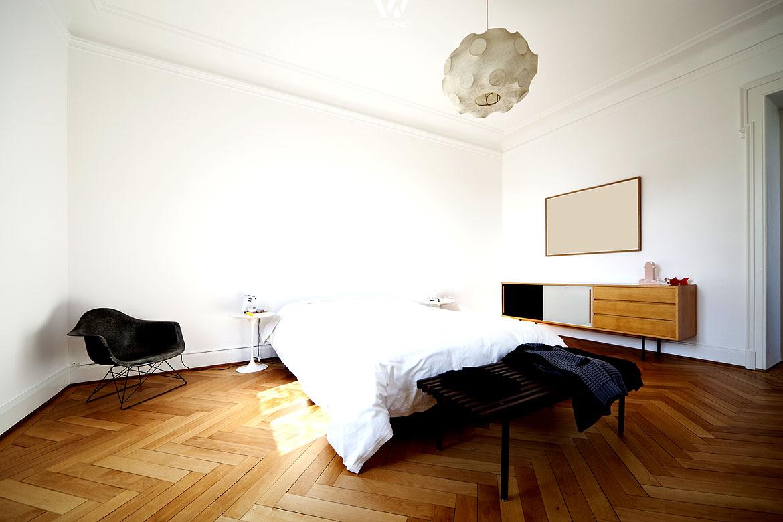 das reduzierte schlafzimmer design wohnidee by woonio. Black Bedroom Furniture Sets. Home Design Ideas