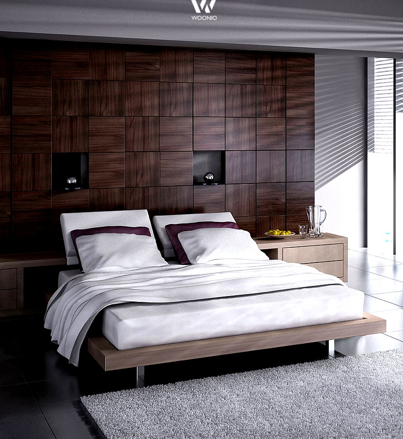 graue tapete schlafzimmer. Black Bedroom Furniture Sets. Home Design Ideas