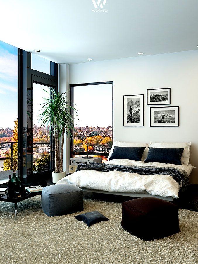 schwarz wei wirkt auch im schlafzimmer sehr gut. Black Bedroom Furniture Sets. Home Design Ideas