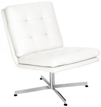 AC-Design-Furniture-40941-Sessel-Nils-Bezug-Kunstleder-wei-Gestell-Metall-verchromt-0