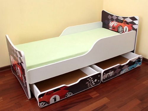 best for kids kinderbett 90x200 mit zwei schubladen cars i online kaufen bei woonio. Black Bedroom Furniture Sets. Home Design Ideas