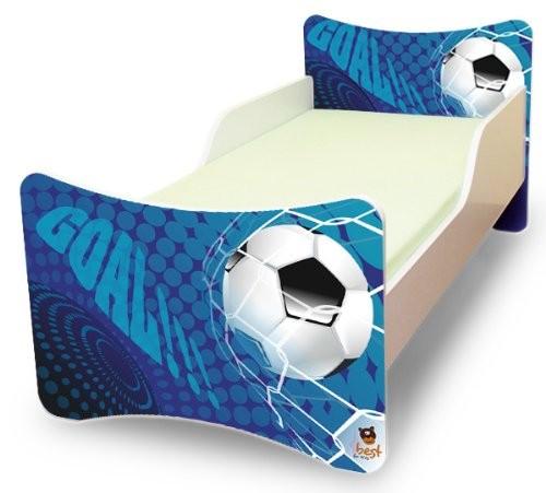 Best-For-Kids-Kinderbett-70x140-Goal--Matratze--Lattenrost--Wandaufkleber-0