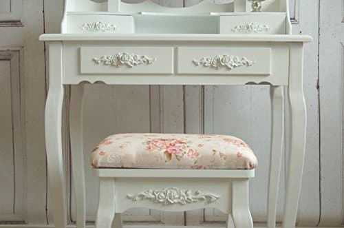 charmanter schminktisch in shabby french chic mit hocker. Black Bedroom Furniture Sets. Home Design Ideas