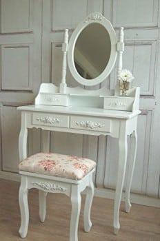 schminktisch inkl hocker frisierkommode frisiertisch spiegel kosmetiktisch online kaufen bei woonio. Black Bedroom Furniture Sets. Home Design Ideas