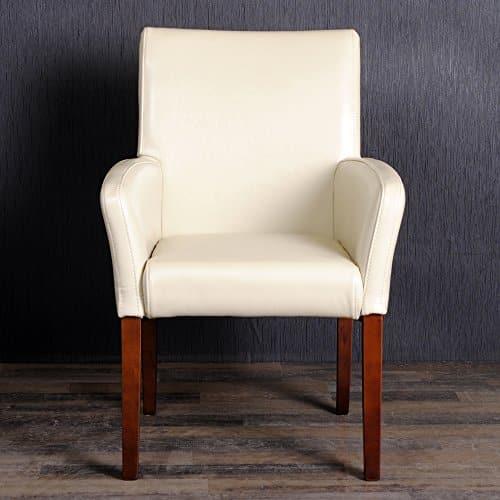 Design armlehnstuhl spalt leder sessel home creme for Designer armlehnstuhl