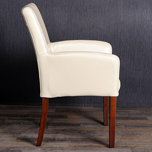 design armlehnstuhl spalt leder sessel home creme. Black Bedroom Furniture Sets. Home Design Ideas